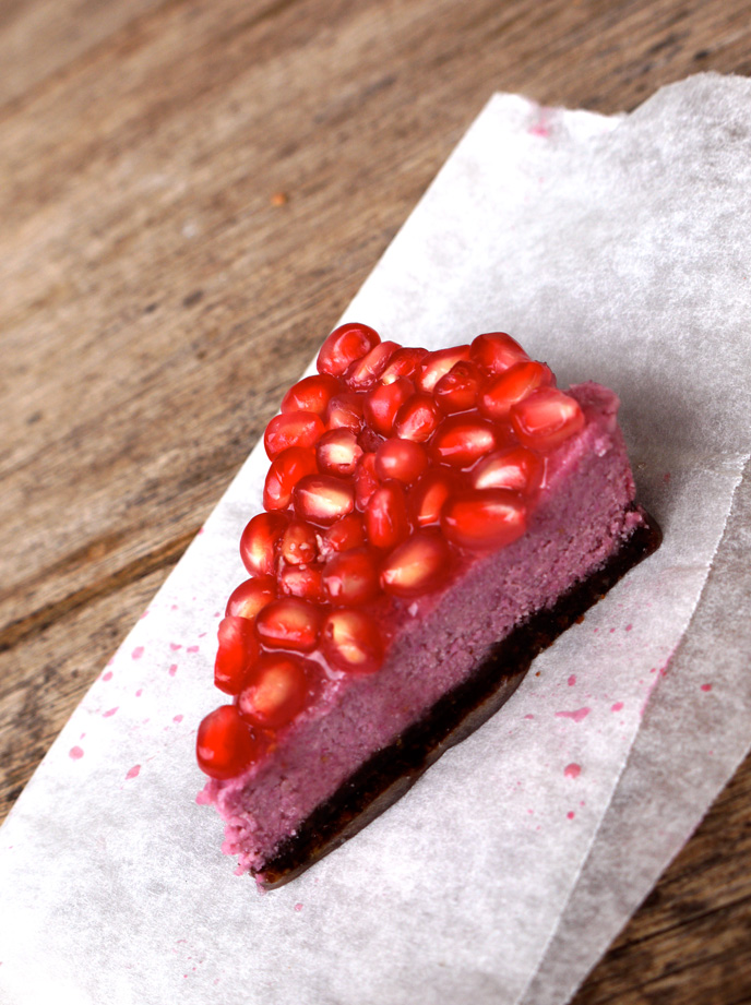 Raspberry Pomegranate Cheesecake