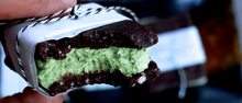 Raw Mint Choc-Chip Ice Cream Sandwiches